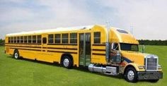 It's time for back to school! Watch out for school buses on the road! Has anyone have seen a school bus like this? #Trucking