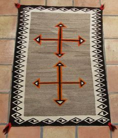 My grandma made these beautiful rugs. Growing up, her loom was the first thing we saw coming into her house. I loved watching her work. Native American Rugs, Native American Artifacts, Navajo Weaving, Navajo Rugs, Southwestern Quilts, Navajo Print, Navajo Nation, Indian Crafts, Indian Rugs