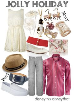 Jolly Holiday Mary & Bert (Mary Poppins) Outfit... disneythis-disneythat