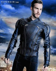 Exciting offer: Buy Chris Wood Supergirl Mon-El Leather Jacket , from Celebrities Outfits with free shipment. Flash E Supergirl, Supergirl Season, Supergirl 2015, Cress Williams, Chris Wood, Lynda Carter, Batwoman, Alter Ego, Teaser