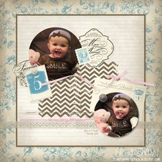 Stamping with Erica: 5 Months Layout Featuring Beau Chateau