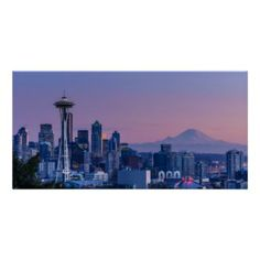 Mount Rainier in the background, #Seattle Print http://www.zazzle.com/mount_rainier_in_the_background_print-228871244957583275?rf=238194283948490074&tc=pin  #MountRainier #Poster