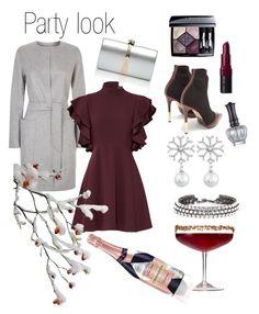 """Party look"" by emmetu on Polyvore featuring MaxMara, Cinq à Sept, Oscar de la Renta, Balmain, Rebecca Minkoff, Bobbi Brown Cosmetics, Christian Dior and Anna Sui"