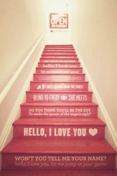 say something with your stairs... daily reminder.  if the kids are the only ones up stairs, remind them to clean their room.  but a great quote or scripture.  daily reminder of what's important in life