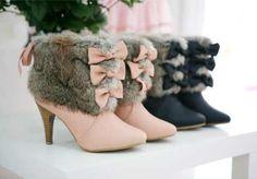 ❥ furry fashionable boot
