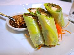 Buddha Roll at Crustacean in Beverly Hills. Snack Recipes, Healthy Recipes, Snacks, Beverly Hills Restaurants, Eat Me Drink Me, Cafe Seating, Kitchen Carpet, How To Clean Carpet, Carpet Runner