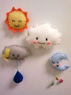 Felt Weather Magnets by msmegas, via Flickr