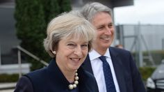 Theresa May and her chancellor, Philip Hammond, headed to the G20 summit from Heathrow Airport.