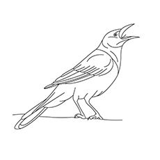 Animal Coloring Pages Momjunction Animal Coloring Pages Coloring Pages Crow Photography