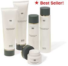 99 Skincare Line Set  Healthy skin has the inherent ability to retain moisture and protect itself from external elements. However, biological aging, stress, UV rays and environmental pollution weaken the skin's barrier function and lessen its ability to retain moisture. This is evidenced by fine lines, dehydration, rough textured skin and heightened sensitivity.