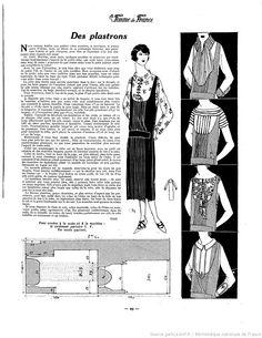 Plastrons (La Femme de France 20/04/1924)