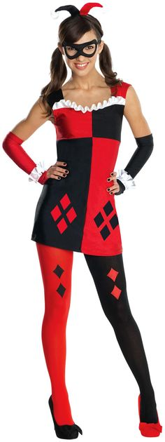 Your Favorite DC Comics Harley Quinn Tween Costume. Interesting Ideas of DC Comics Costumes for Halloween at PartyBell. Tween Halloween Costumes, Dc Comic Costumes, Batman Costumes, Boy Costumes, Women Halloween, Costume Ideas, Tween Set, Harley Quinn Halloween Costume, Classic Girl
