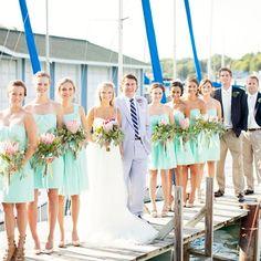 913ba51ecf8d Mint J.Crew Bridesmaid Dresses..Kendra's seven bridesmaids matched mint J. Crew