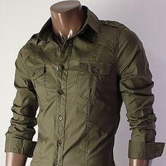 New Designer Stylish Mens Casual Slim Fit Dress Shirts   eBay