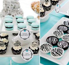 blue & #zebra #print