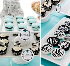 Zebra & Blue...cool idea for a baby shower if your having a boy