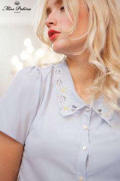 Miss Patina Marigold Shirt (sky blue) (4)