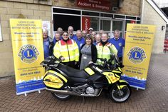 Lions Club of Woodley and Earley get blood bike's motor running
