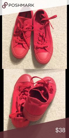 Red Converse Cheaper on merc. College students? You are elegible for free shipping. Leave a comment :) Converse Shoes Sneakers