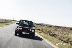Black Golf Mk1 GTI driving