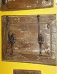 Old Door Panel Hat Rack - Double, rustic home decor provided by Mexican Imports