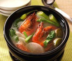 Sinigang Na Hipon Filipino Recipe | Filipino Foods Recipes
