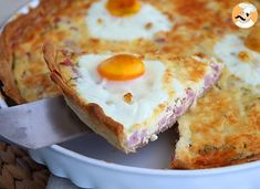 Ham and eggs quiche, Recipe Petitchef Breakfast And Brunch, Breakfast Recipes, Finger Food Appetizers, Appetizer Recipes, Aperitivos Finger Food, Baby Food Recipes, Cooking Recipes, Fat Foods, How To Cook Eggs