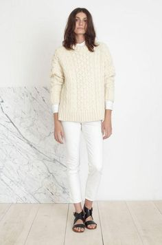 Fall outfit idea #7: all white  (see all 12 ideas by clicking)