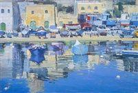 Nicholas Verrall (1945-) - Mgarr's Harbour, Gozo