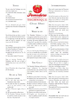 Pomodoro Technique – With A Cheat Sheet