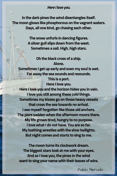 Pablo Neruda's Here I Love You - Over The Andes