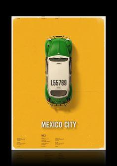Citycab posters by Mehmet Gozetlik