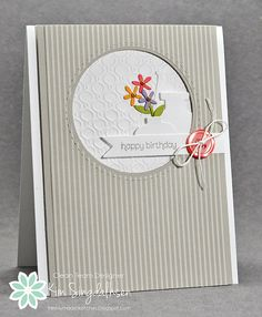 Joyful Creations with Kim: Freshly Made Sketches: Happy Birthday with Vases
