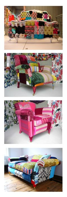 patchwork upholstery! Granny's in....