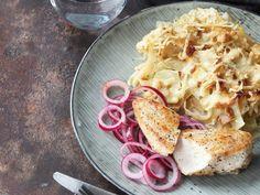 Kycklingfilé med vitkålsgratäng | Recept från Köket.se