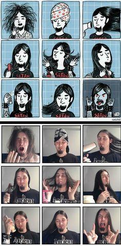 morning metal routine (Favorite Meme Guys)