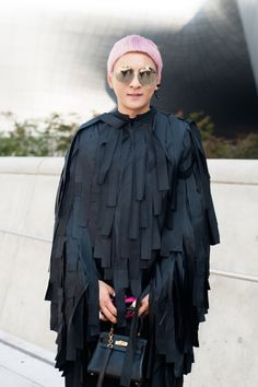 WGSN Smooth piled coat for a black swan
