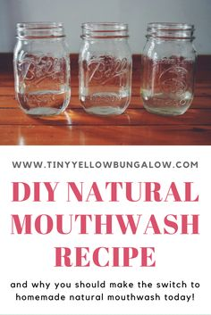 DIY Natural Mouthwash Recipe - Zero Waste