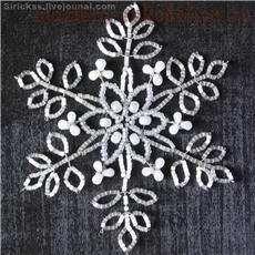 BEAD SNOW FLAKES_TUTORIAL