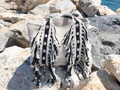 Style Boho, Boho Chic, Bohemian, Expensive Handbags, Crochet Shoulder Bags, Jute Tote Bags, Fringe Bags, Recycled Denim, Denim Bag