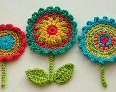 Uncinetto motivi floreali serie Garden Crochet di AnnieDesign