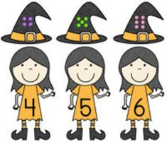 """Witty Witches"" is a compilation of three literacy and three math center activities to incorporate into your fall or Halloween learning themes. The reading/literacy activities include finding rhyming word pairs, counting syllables in words, and reading simple sentences to match to the witches that are being described. The math activities include matching numerals to sets for 0 through 20, non-standard measurement practice, and visual discrimination to find differences on witches. $4.00"