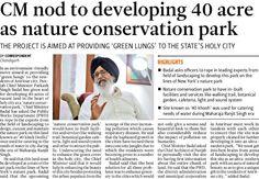 CM nod to developing 40 acre as nature conservation park. #youthakalidal   #yad   #parkashsinghbadal   #developingpunjab