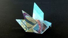 Geldschein falten Taube - Einfachen Origami Vogel mit Geld falten - DIY ... Flowers, Travel, Diy Origami, Diy Stuff, Diana, Tips, Youtube, Wrap Gifts, Viajes