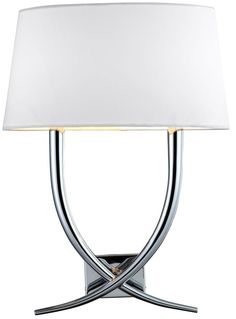 Arianna Nickel Cream Wall Lamp