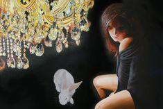Title/Titel/Titel/Títolo Acrylic on canvas/ Akryl auf Leinwand/Akryl på lærred/Acrílica sobre tela Year/Jahr/År/Ano anders dyhr Mona Lisa, Canvas, Artwork, Hare, Animals, Rabbit, Paintings, Tela, Bunny