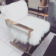 Where can I find this!! #luxe #furrychair