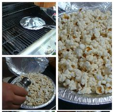Homemade Jiffy Pop! Way healthier than the store bought version, and great for over the campfire! :)