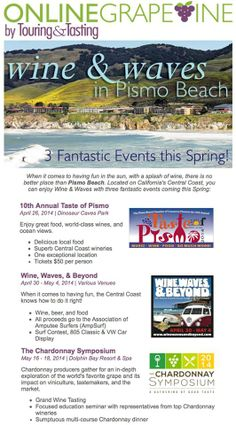3 fantastic events coming to Pismo Beach this spring! Visit www.classiccalifornia.com for more information!