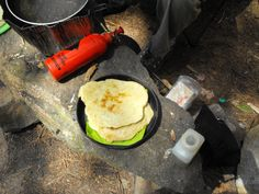 BackpackingChef readers share their breakfast camping recipes. breakfast burritos, hash browns, salmon scramble, flat bread and more. Backpacking Food, Camping Meals, Camping Recipes, Camping Stuff, Great Recipes, Snack Recipes, Favorite Recipes, Snacks, Bannock Bread